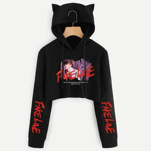 Lil Meow Meow Cropped Hoodies - BTS ARMY MERCH