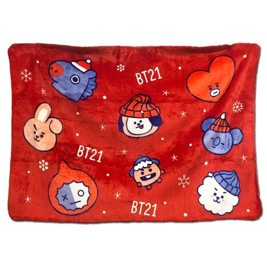 Limited Edition Christmas Blankie - BTS ARMY MERCH