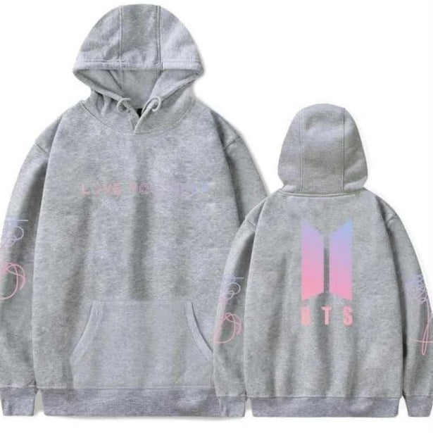 Love Yourself Hoodies gray - BTS clothing