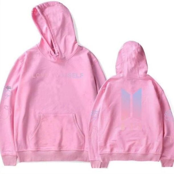 Love Yourself Hoodies pink - BTS clothing