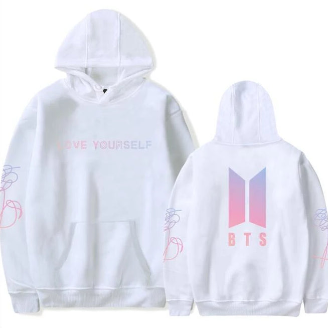 Love Yourself Hoodies white - BTS clothing