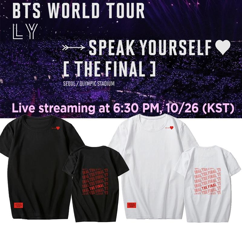 SPEAK YOURSELF: THE FINAL T-SHIRTS - BTS ARMY MERCH