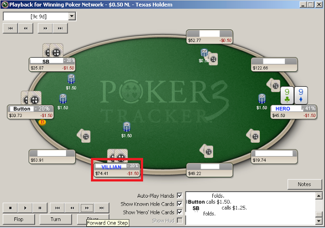 Learn from poker tracker hand history