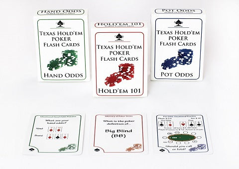 Learn how to win at Texas Hold/'em! POT ODDS Color Up POKER FLASH CARDS