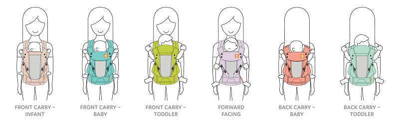 Coast Mesh Explore 6-in-1 Baby Carrier
