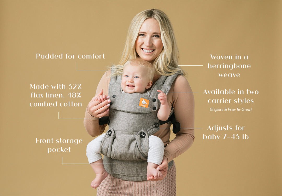 Ash Linen Baby Carrier Features