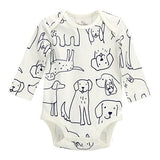 Dogs Spearmint Love Baby Organic LS Bodysuit