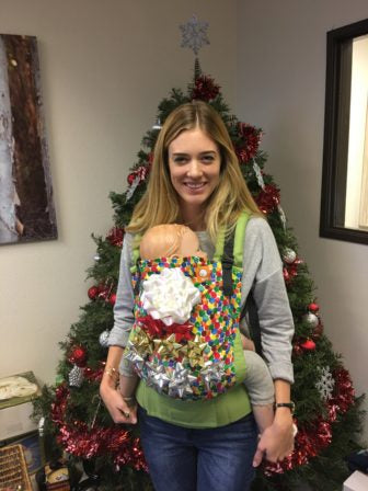 Christmas Tree Ugly Sweater Diy.Diy Ugly Christmas Sweater Baby Carrier Edition By Agnieszka