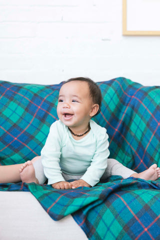 Spruce Plaid - Tula Cuddle Me Baby Throw Blanket