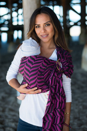 Migaloo Raspberry - Cotton Ring Sling Ring Sling | Baby Tula