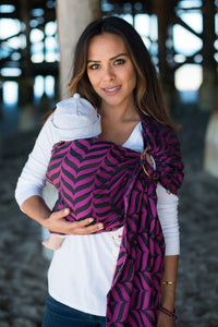 Migaloo Raspberry - Wrap Conversion Ring Sling Ring Sling - Baby Tula