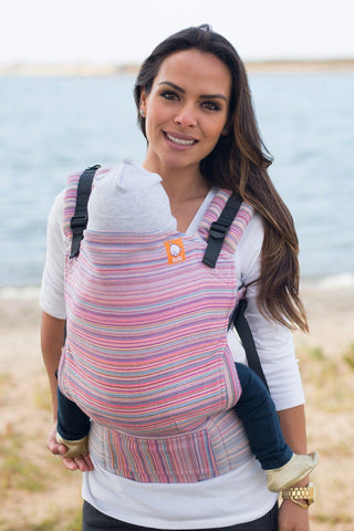 Half Toddler WC Carrier - Land of Deseret Salmon Wrap Conversion - Baby Tula