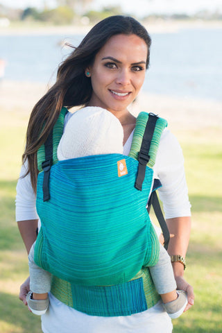 Half Standard WC Carrier - Meeyoo Tomo Aquamarine Wrap Conversion - Baby Tula