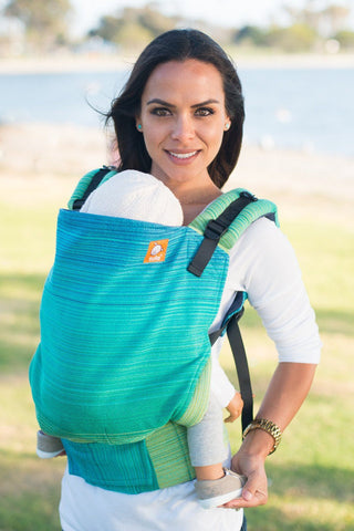 Half Toddler WC Carrier - Tomo Turquoise Wrap Conversion - Baby Tula