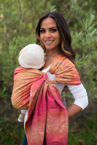 Zephyr Rose - Wrap Conversion Ring Sling Ring Sling - Baby Tula