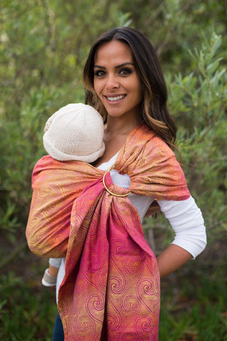 Zephyr Rose - Cotton Ring Sling
