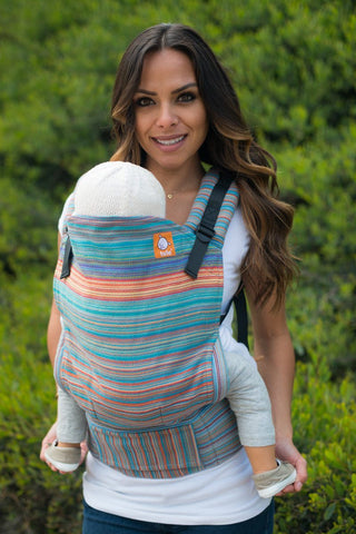 Half Toddler WC Carrier - Heartstring Golden Gate Gris Fonce Wrap Conversion - Baby Tula
