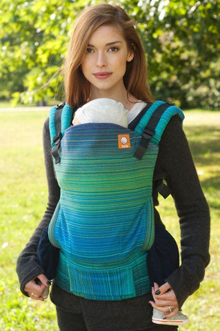 Half Toddler Size WC Carrier - Lucian (Peacock Weft) Wrap Conversion - Baby Tula