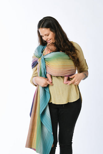 Girasol Coronado Gris Medio (gold rings) - Signature Ring Sling