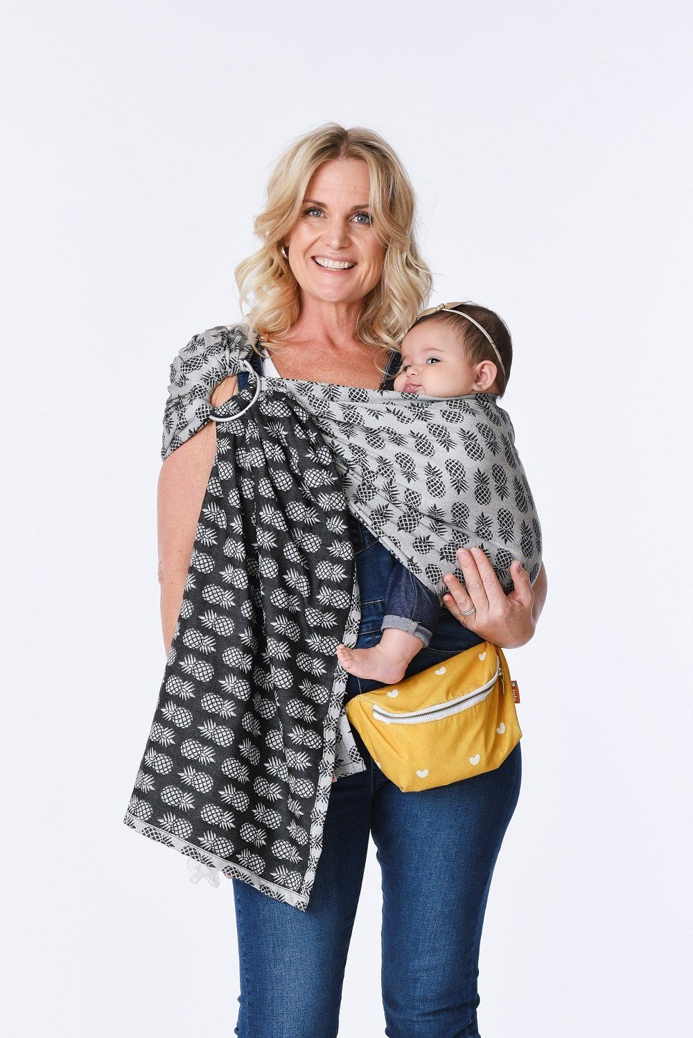 Ananas Twilight - Cotton Ring Sling Ring Sling | Baby Tula