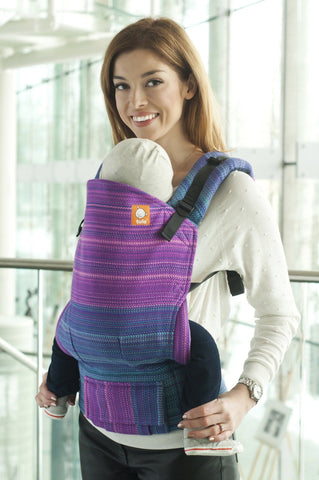Half Standard WC Carrier - Morning Glory Purple Weft Wrap Conversion - Baby Tula