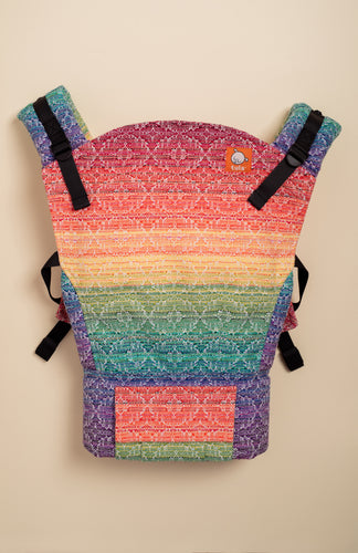 Apple Blossom Prism Kaleidoscope Weave (white weft) - Tula Signature Baby Carrier