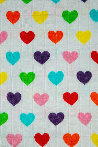 Rainbow Hearts - Tula Cuddle Me Blanket