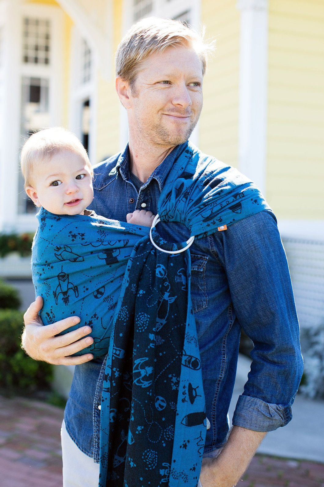 Blast Off Hemisphere - Cotton Ring Sling Ring Sling | Baby Tula