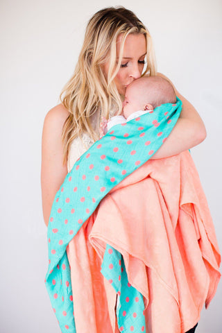 Blissful  - Tula Baby Blanket Set