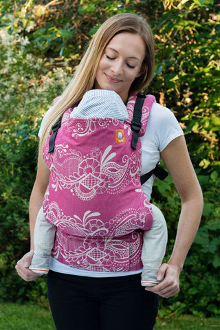 Half Standard WC Carrier - No. 4 Cerise Wrap Conversion - Baby Tula