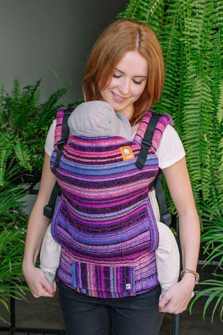 Baby Tula Half Standard Wrap Conversion Carrier - Chici Beanz Catless Magenta Weft