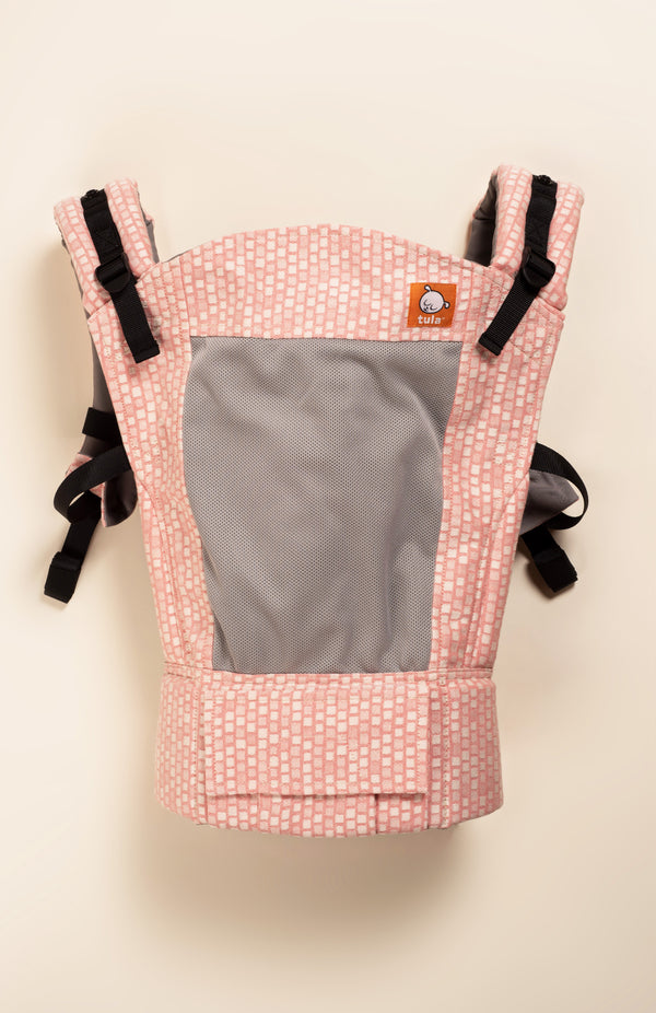 Coast Emmeline Captiva Squares - Tula Signature Baby Carrier (half) Wrap Conversion