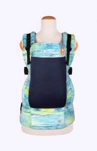 Coast Rainbow Frog Very Superstitious Lime and Turquoise Speckled - Tula Signature Baby Carrier
