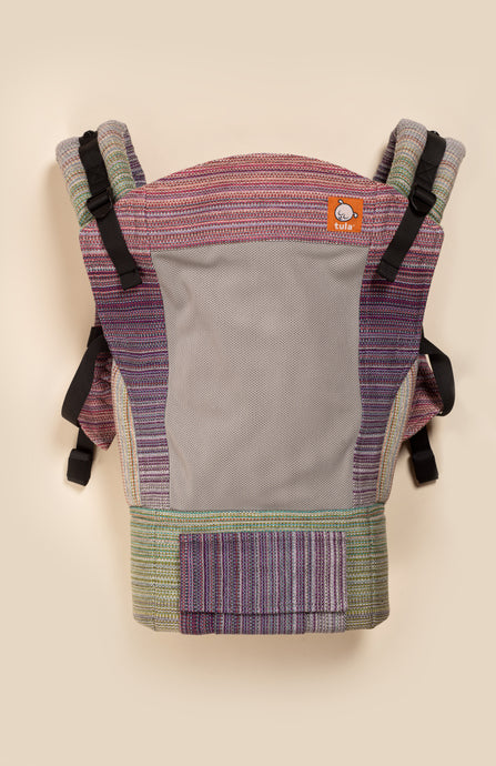 Coast Stewed Rhubarb Luna (black weft) - Tula Signature Baby Carrier Wrap Conversion