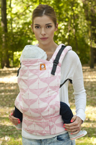 Half Standard WC Carrier - Cranes Pink Wrap Conversion - Baby Tula
