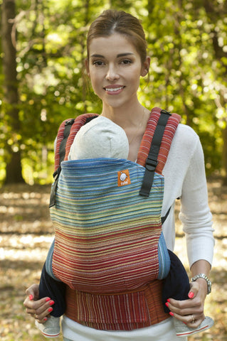 Half Standard WC Carrier - Weed Way Maine (Charcoal Weft) Wrap Conversion - Baby Tula