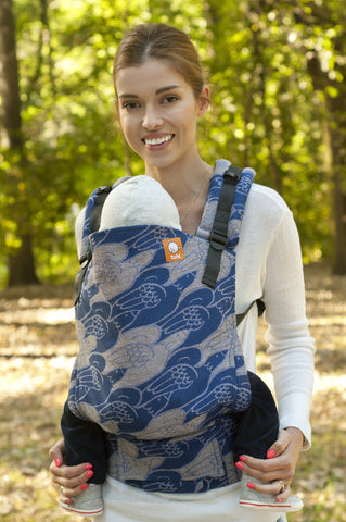 Half Standard WC Carrier - Doves of Peace Goura Wrap Conversion - Baby Tula