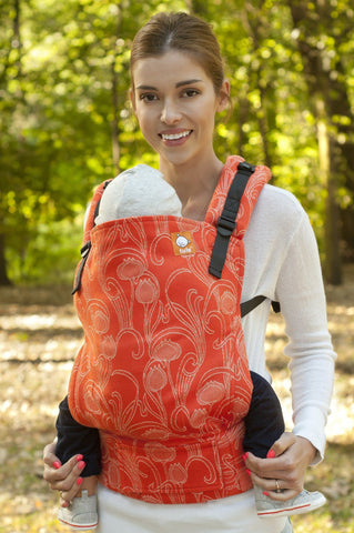 Half Toddler WC Carrier - Poppy Blossom Wrap Conversion - Baby Tula