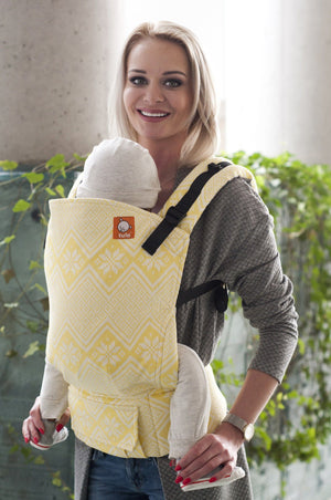 Wrap Conversion Half Standard WC Carrier - Octagram Buttercup - Baby Tula