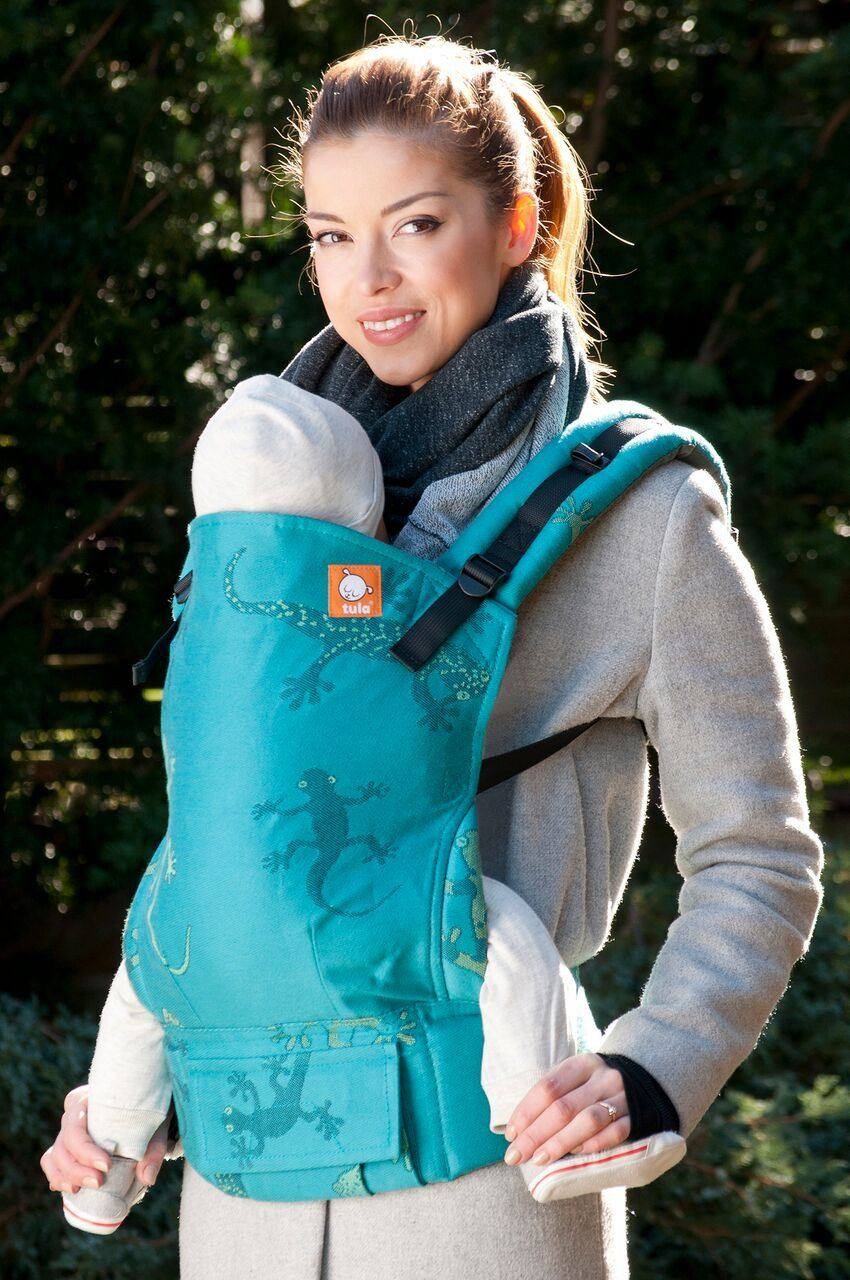 Half Toddler WC Carrier - Geckos Emerald Wrap Conversion - Baby Tula