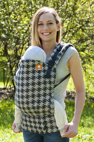 Half Toddler WC Carrier - Houndstooth Wrap Conversion - Baby Tula