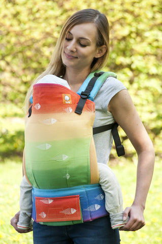 Half Toddler WC Carrier - Rainbow Fish Wrap Conversion - Baby Tula