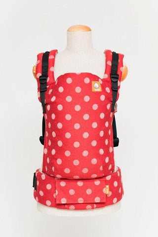 Baby Tula Half Free-to-Grow WC - Didymos Red Dots Hemp Wrap Conversion | Baby Tula