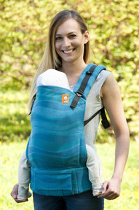Half Toddler WC Carrier - Waves Aqua Wrap Conversion | Baby Tula