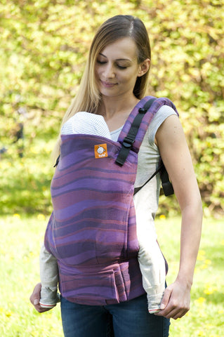 Half Toddler WC Carrier - Waves Elder Wrap Conversion - Baby Tula
