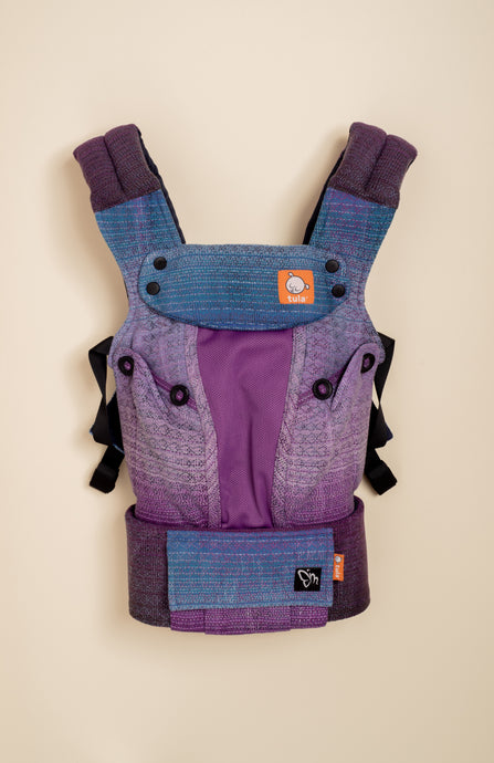 Coast Magabi Blueberry Sorbet (purple and charcoal weft) - Tula Signature Baby Carrier