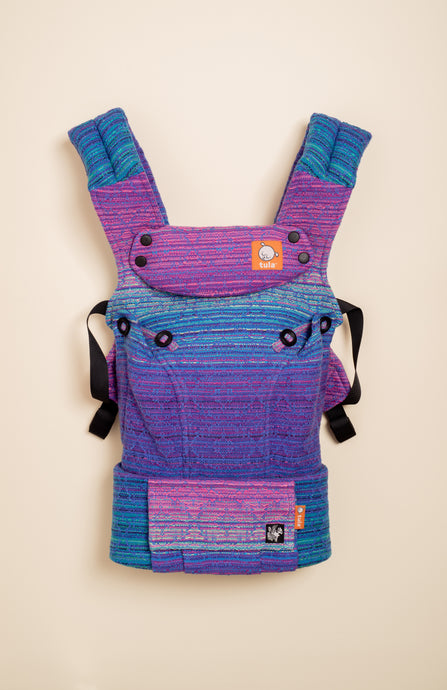 Apple Blossom Wovens + ChiciBeanz Handwoven Dreamer (bleu weft) - Tula Signature Baby Carrier