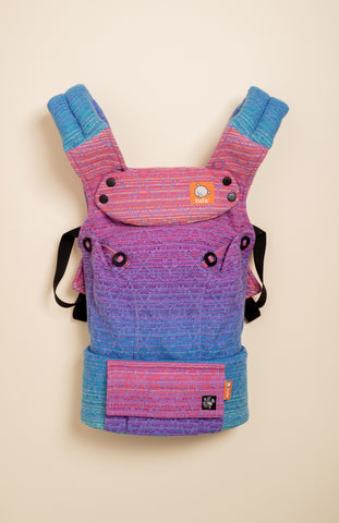 Apple Blossom Wovens x Chicibeanz Handwoven Sugar Reef (periwinkle weft/kaleidoscope weave) - Tula Signature Baby Carrier