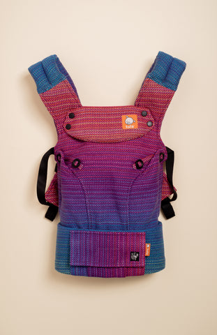 Apple Blossom Wovens x Chicibeanz Handwoven Sugar Reef (purple weft/twill weave) - Tula Signature Baby Carrier