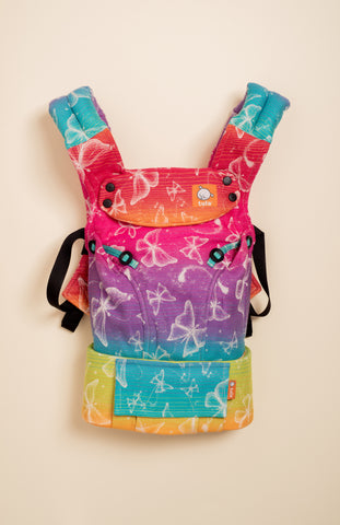 Lolly Wovens Butterfly Love of Rainbow - Tula Signature Baby Carrier Tula Wrap Conversion